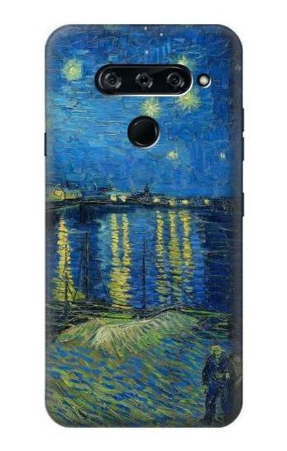 S3336 Van Gogh Starry Night Over the Rhone Case For LG V40, LG V40 ThinQ