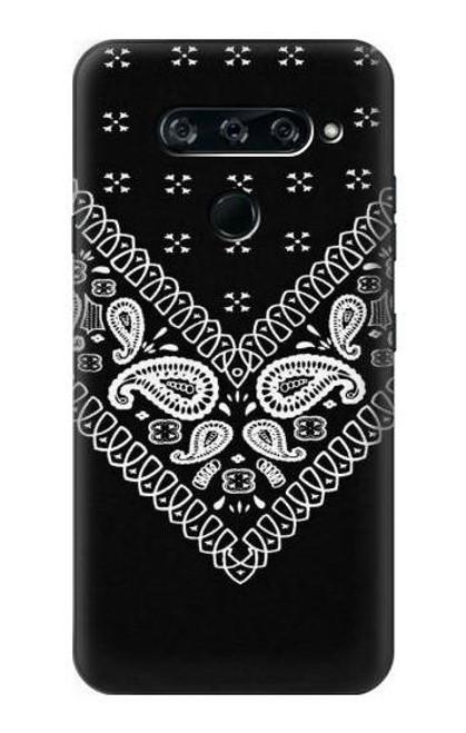 S3363 Bandana Black Pattern Case For LG V40, LG V40 ThinQ