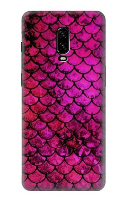 S3051 Pink Mermaid Fish Scale Case For OnePlus 6T