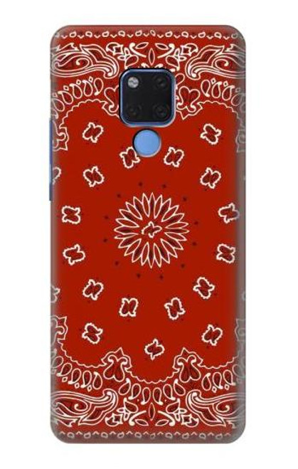 S3355 Bandana Red Pattern Case For Huawei Mate 20 X