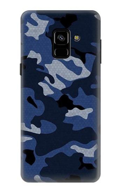 S2959 Navy Blue Camo Camouflage Case For Samsung Galaxy A8 (2018)