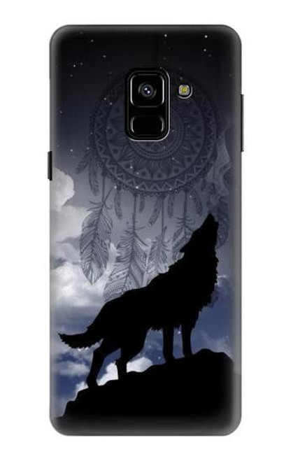 S3011 Dream Catcher Wolf Howling Case For Samsung Galaxy A8 (2018)