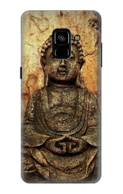 S0344 Buddha Rock Carving Case For Samsung Galaxy A8 Plus (2018)