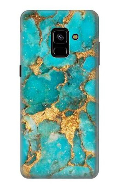 S2906 Aqua Turquoise Stone Case For Samsung Galaxy A8 Plus (2018)