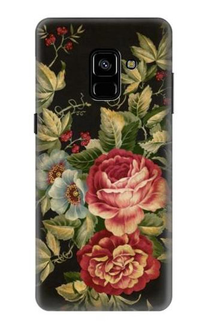S3013 Vintage Antique Roses Case For Samsung Galaxy A8 Plus (2018)