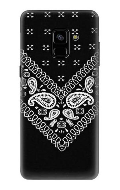 S3363 Bandana Black Pattern Case For Samsung Galaxy A8 Plus (2018)