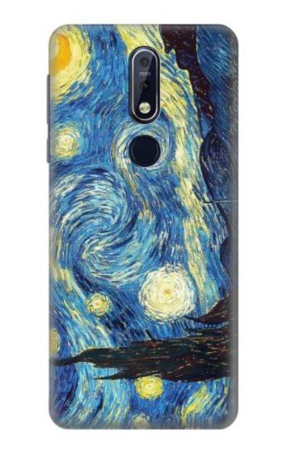 S0213 Van Gogh Starry Nights Case For Nokia 7.1