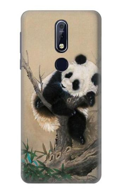 S2210 Panda Fluffy Art Painting Case For Nokia 7.1