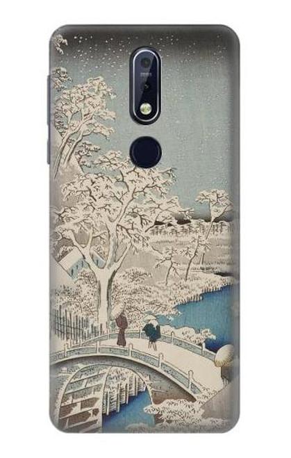 S3350 Utagawa Hiroshige Drum Bridge Yuhi Hill in Meguro Case For Nokia 7.1