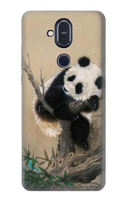 S2210 Panda Fluffy Art Painting Case For Nokia 8.1, Nokia X7