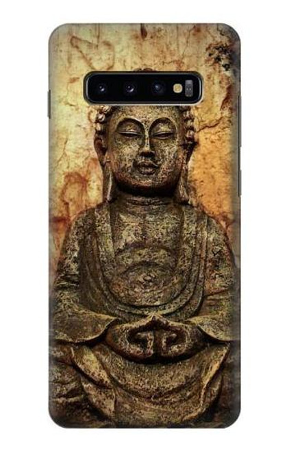 S0344 Buddha Rock Carving Case For Samsung Galaxy S10 Plus
