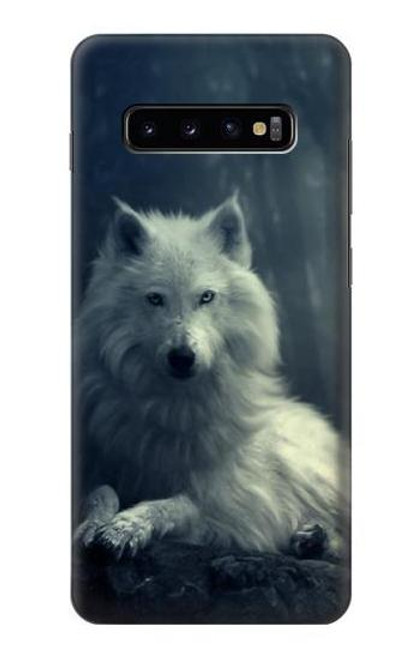S1516 White Wolf Case For Samsung Galaxy S10 Plus
