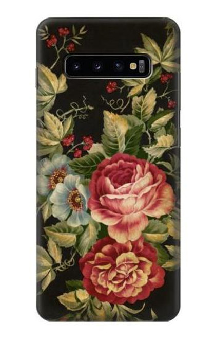 S3013 Vintage Antique Roses Case For Samsung Galaxy S10 Plus