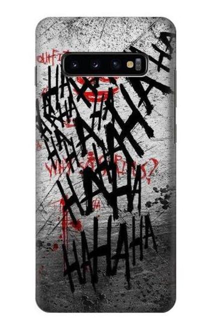 S3073 Joker Hahaha Blood Splash Case For Samsung Galaxy S10 Plus