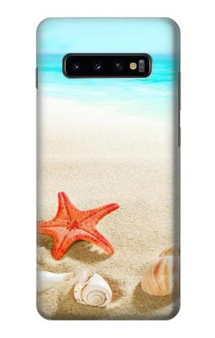 S3212 Sea Shells Starfish Beach Case For Samsung Galaxy S10 Plus