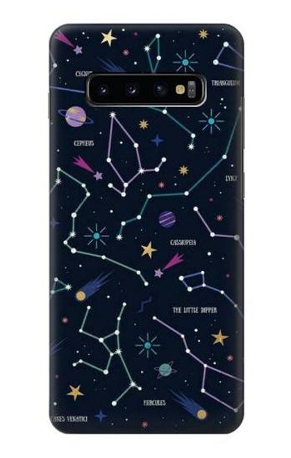S3220 Star Map Zodiac Constellations Case For Samsung Galaxy S10 Plus