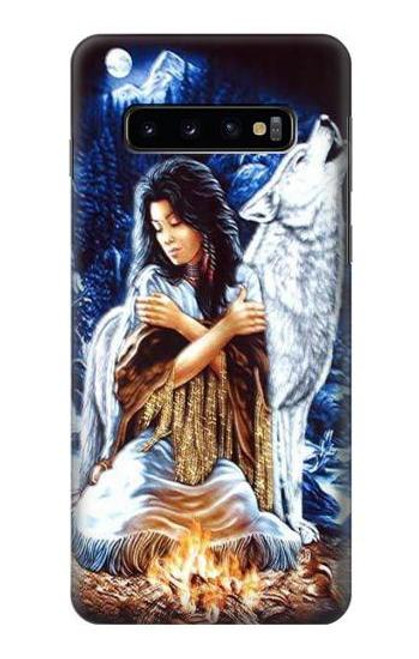 S0147 Grim Wolf Indian Girl Case For Samsung Galaxy S10