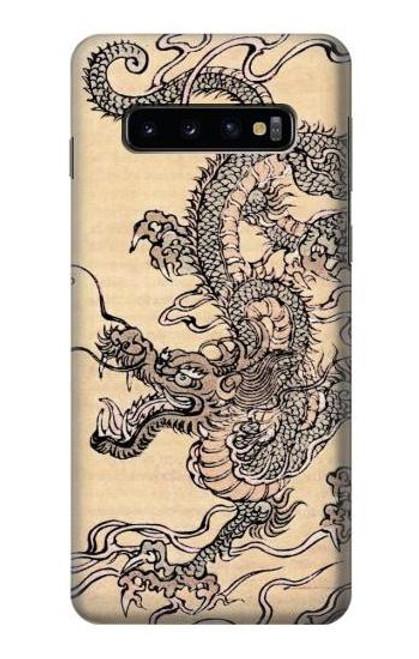 S0318 Antique Dragon Case For Samsung Galaxy S10