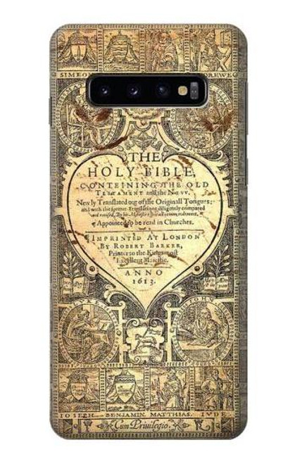 S0330 Bible Page Case For Samsung Galaxy S10