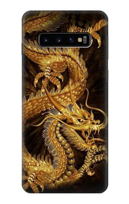 S2804 Chinese Gold Dragon Printed Case For Samsung Galaxy S10