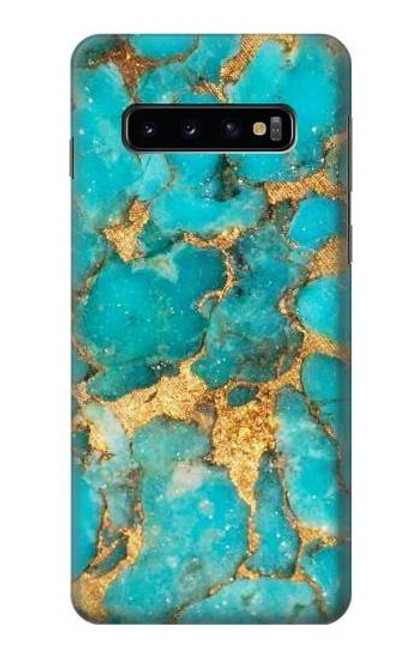 S2906 Aqua Turquoise Stone Case For Samsung Galaxy S10