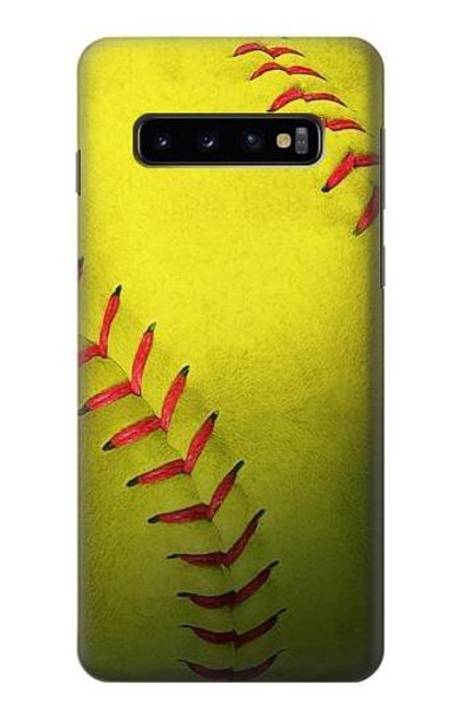 S3031 Yellow Softball Ball Case For Samsung Galaxy S10