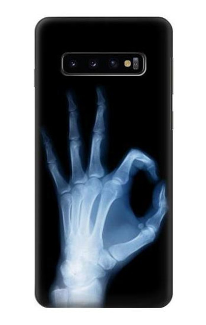 S3239 X-Ray Hand Sign OK Case For Samsung Galaxy S10