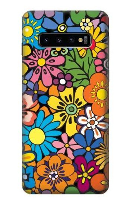 S3281 Colorful Hippie Flowers Pattern Case For Samsung Galaxy S10