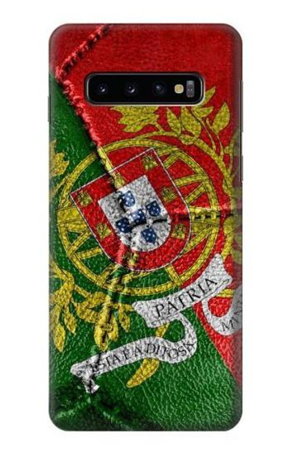 S3300 Portugal Flag Vintage Football Graphic Case For Samsung Galaxy S10
