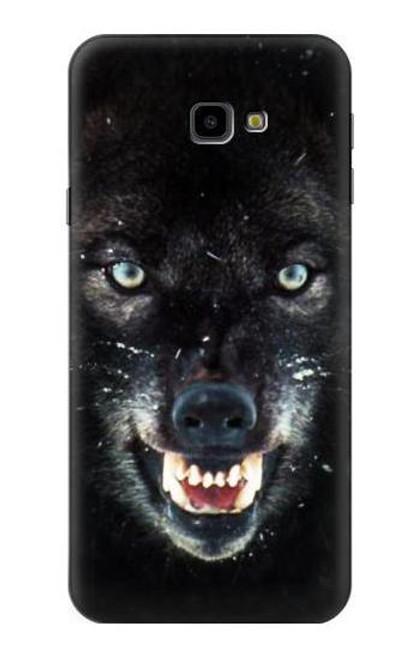 S2823 Black Wolf Blue Eyes Face Case For Samsung Galaxy J4+ (2018), J4 Plus (2018)