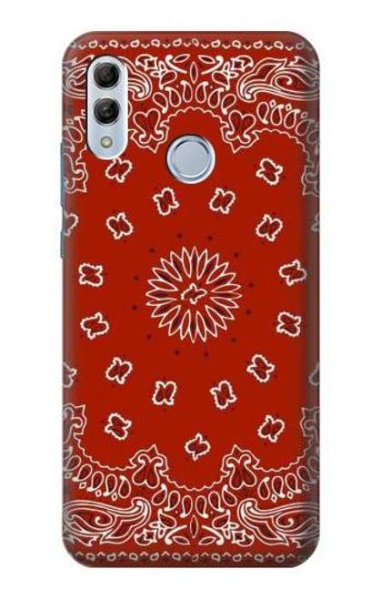 S3355 Bandana Red Pattern Case For Huawei Honor 10 Lite, Huawei P Smart 2019