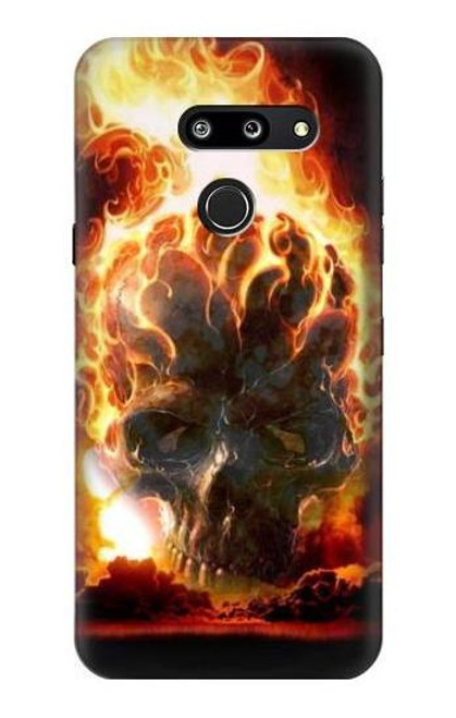 S0863 Hell Fire Skull Case For LG G8 ThinQ