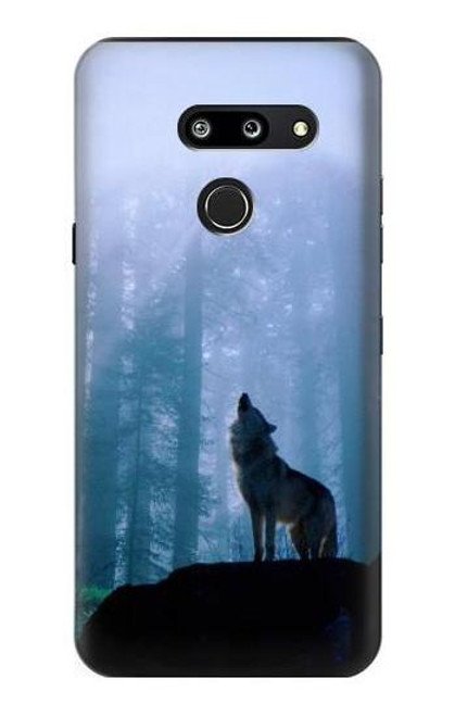 S0935 Wolf Howling in Forest Case For LG G8 ThinQ