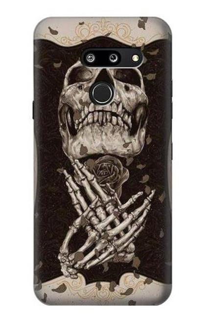 S1676 Skull Rose Case For LG G8 ThinQ