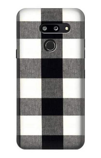 S2842 Black and White Buffalo Check Pattern Case For LG G8 ThinQ