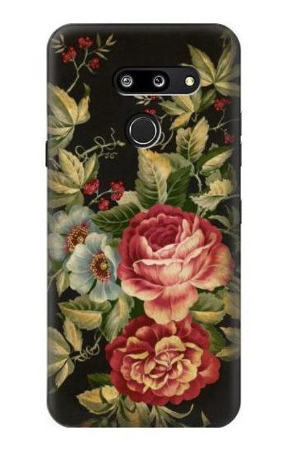 S3013 Vintage Antique Roses Case For LG G8 ThinQ