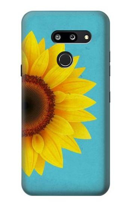 S3039 Vintage Sunflower Blue Case For LG G8 ThinQ