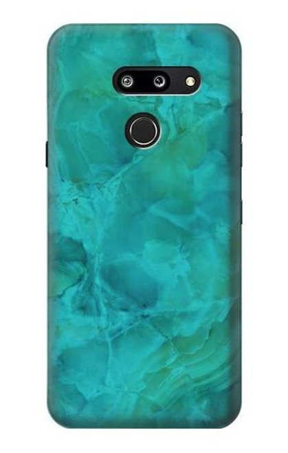 S3147 Aqua Marble Stone Case For LG G8 ThinQ