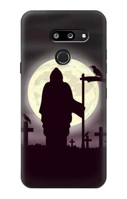 S3262 Grim Reaper Night Moon Cemetery Case For LG G8 ThinQ