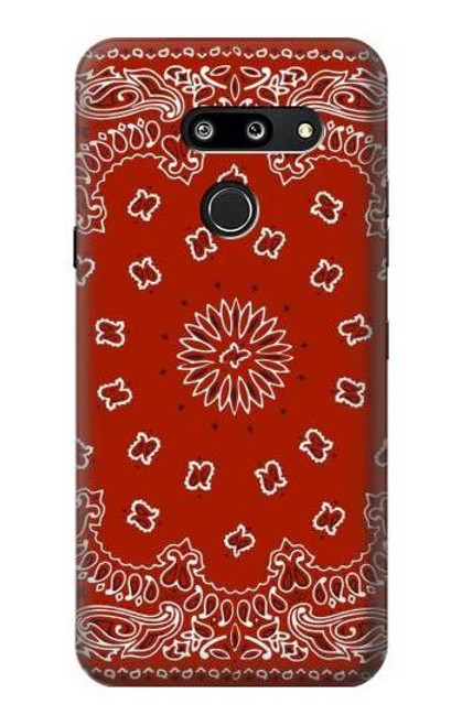 S3355 Bandana Red Pattern Case For LG G8 ThinQ