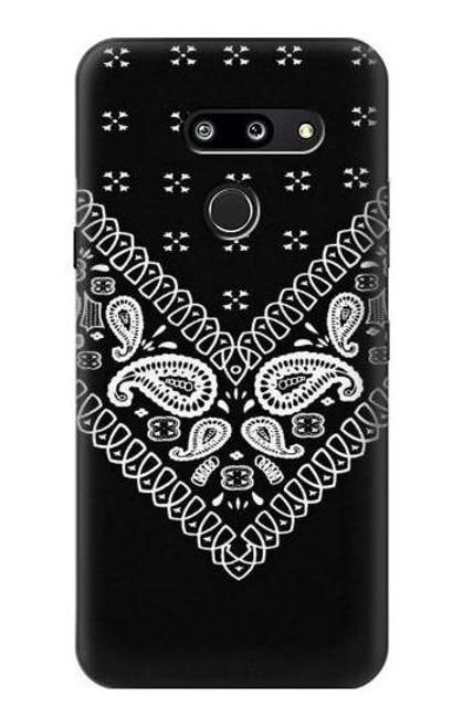 S3363 Bandana Black Pattern Case For LG G8 ThinQ
