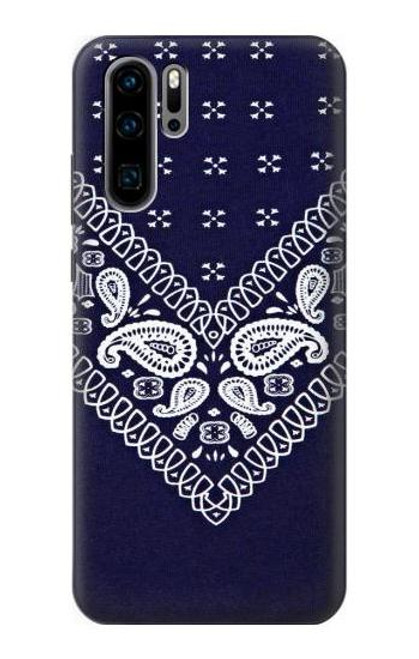 S3357 Navy Blue Bandana Pattern Case For Huawei P30 Pro