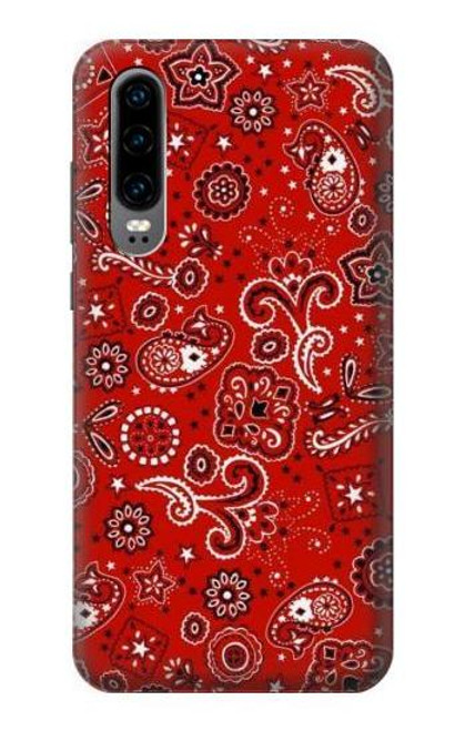 S3354 Red Classic Bandana Case For Huawei P30