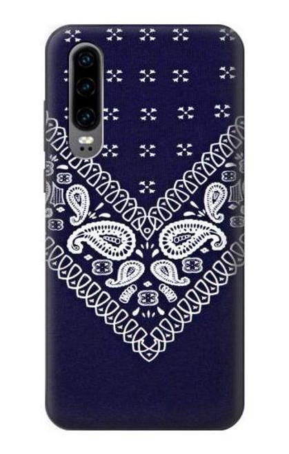 S3357 Navy Blue Bandana Pattern Case For Huawei P30