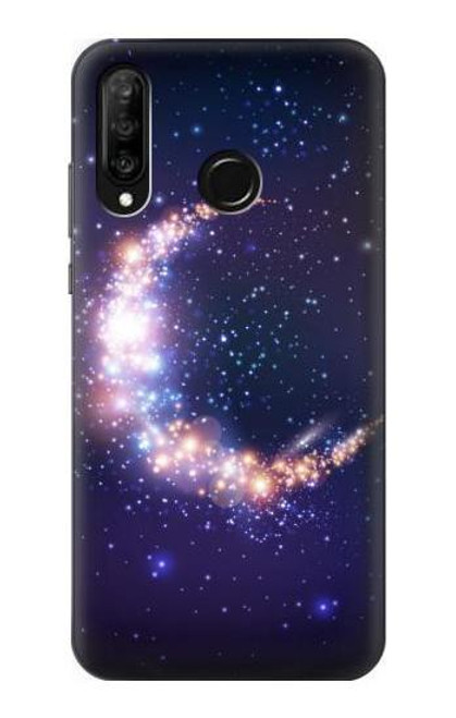 S3324 Crescent Moon Galaxy Case For Huawei P30 lite