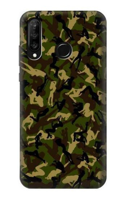 S3356 Sexy Girls Camo Camouflage Case For Huawei P30 lite