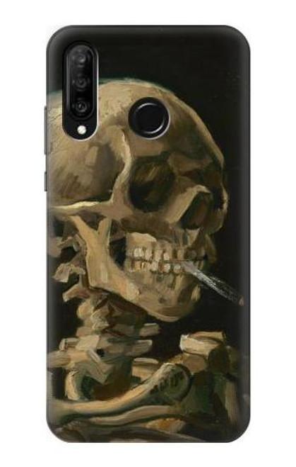 S3358 Vincent Van Gogh Skeleton Cigarette Case For Huawei P30 lite