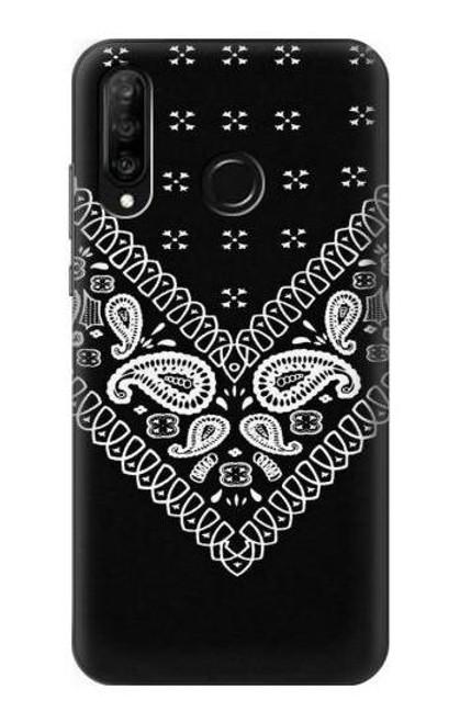 S3363 Bandana Black Pattern Case For Huawei P30 lite