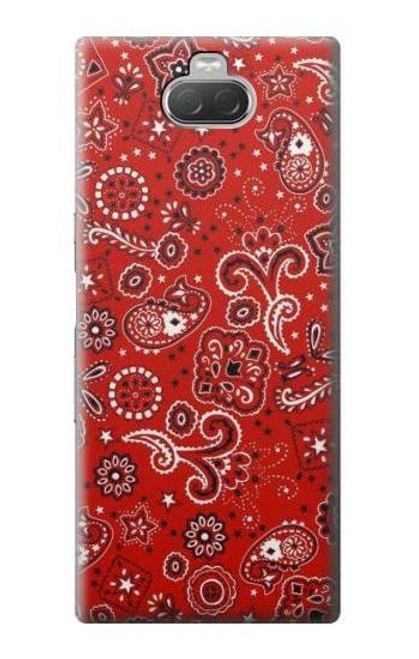 S3354 Red Classic Bandana Case For Sony Xperia 10