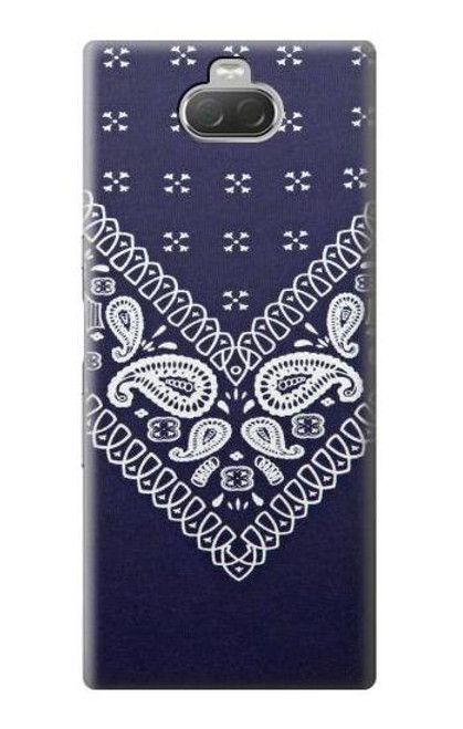 S3357 Navy Blue Bandana Pattern Case For Sony Xperia 10